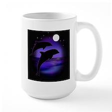 Dolphins At Midnight Mug