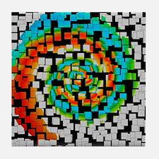 COLOR SWIRL Tile Coaster