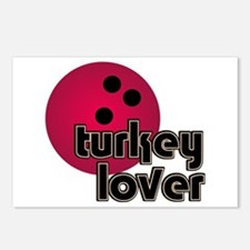 Turkey Lover Bowling Ball Postcards (Package of 8)