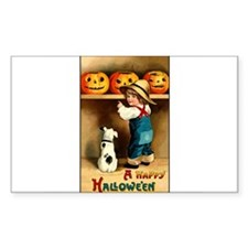 Country Store Halloween Rectangle Decal