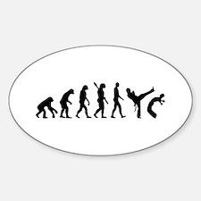 Evolution Capoeira Sticker (Oval)