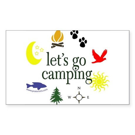 Let's go camping! Oval Sticker