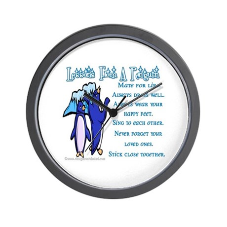 Lessons from a penguin Wall Clock