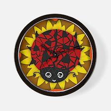 Lady Bug Shadow Box Wall Clock