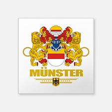 "Munster COA.png Square Sticker 3"" x 3"""