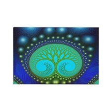 """Celestial Forest"" Fractal Art Rectangle Magnet"