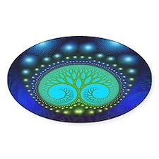 """Celestial Forest"" Fractal Art Oval Decal"