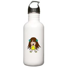 Angry Cute Little Girl Sunkissed Edition Water Bottle