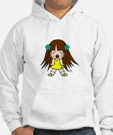 Angry Cute Little Girl Sunkissed Edition Hoodie