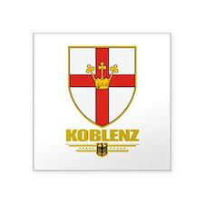 "Koblenz COA.png Square Sticker 3"" x 3"""