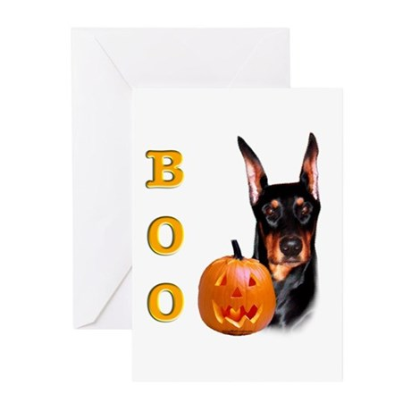 Halloween Doberman Boo Greeting Cards (Package of