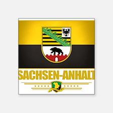 "Sachsen-Anhalt (Flag 10).png Square Sticker 3"" x 3"