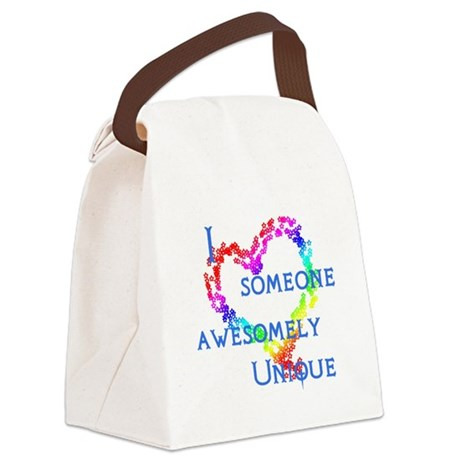 Love Awesomely Unique Canvas Lunch Bag