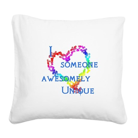 Love Awesomely Unique Square Canvas Pillow