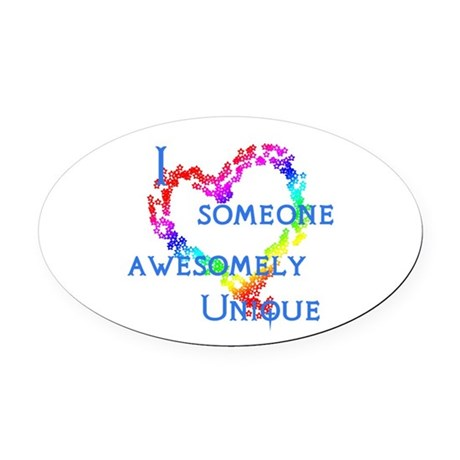 Love Awesomely Unique Oval Car Magnet