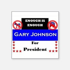 "Gary Johnson for President Square Sticker 3"" x 3"""