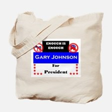 Gary Johnson for President Tote Bag
