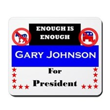 Gary Johnson for President Mousepad