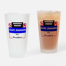 Gary Johnson for President Drinking Glass