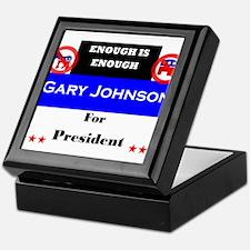 Gary Johnson for President Keepsake Box