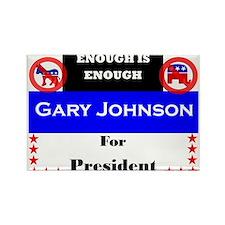 Gary Johnson for President Rectangle Magnet