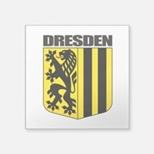 "Dresden (gold).png Square Sticker 3"" x 3"""