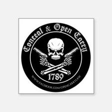 Open Carry & Concealed Carry Logo Square Sticker 3