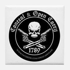 Open Carry & Concealed Carry Logo Tile Coaster