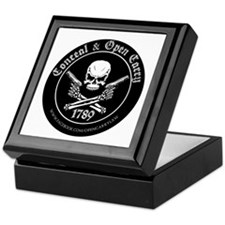 Open Carry & Concealed Carry Logo Keepsake Box