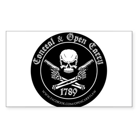 Open Carry & Concealed Carry Logo Sticker (Rectang