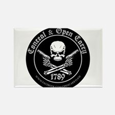 Open Carry & Concealed Carry Logo Rectangle Magnet