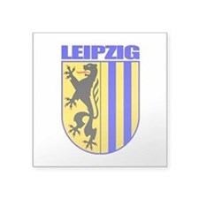 "Leipzig (blk).png Square Sticker 3"" x 3"""
