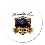 American flag Round Car Magnets