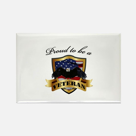 Proud to be a Veteran Rectangle Magnet (10 pack)