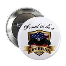 "Proud to be a Veteran 2.25"" Button (10 pack)"