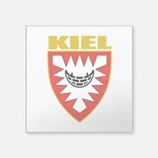 "Kiel (gold).png Square Sticker 3"" x 3"""
