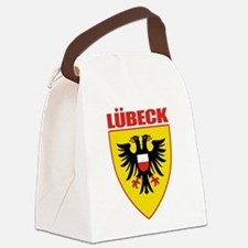 Lubeck (red).png Canvas Lunch Bag