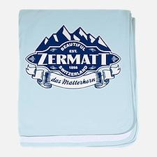 Zermatt Mountain Emblem baby blanket