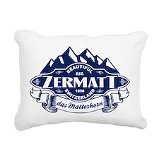 Zermatt Mountain Emblem Rectangular Canvas Pillow