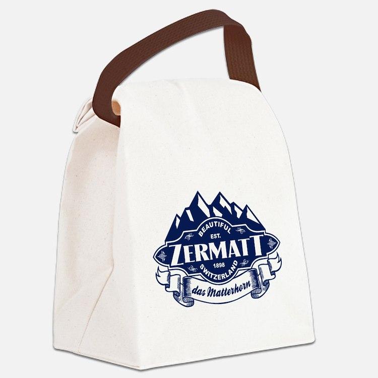 Zermatt Mountain Emblem Canvas Lunch Bag