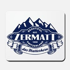 Zermatt Mountain Emblem Mousepad