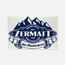 Zermatt Mountain Emblem Rectangle Magnet