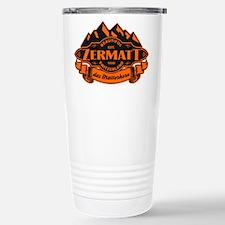 Zermatt Mountain Emblem Stainless Steel Travel Mug