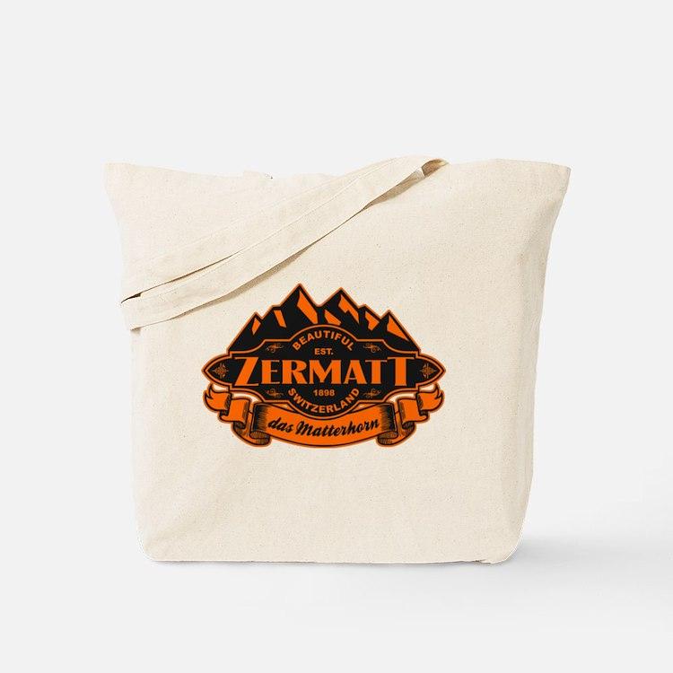 Zermatt Mountain Emblem Tote Bag