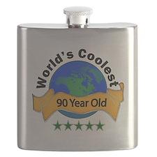 Cute 90th birthday Flask