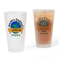 Cute 90 birthday Drinking Glass