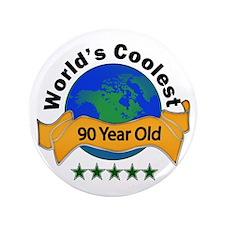 "Cute 90th birthday 3.5"" Button (100 pack)"