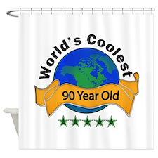 Cute 90th birthday Shower Curtain