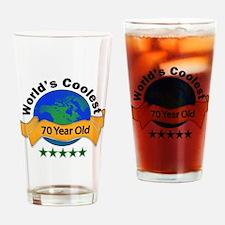Funny 70th birthday ideas Drinking Glass