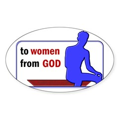 God's Gift to Women Oval Decal